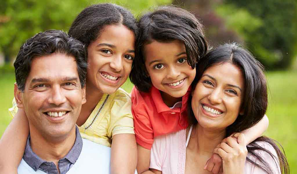 Family of South Asian heritage.